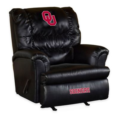University of Oklahoma Leather Big Daddy Recliner