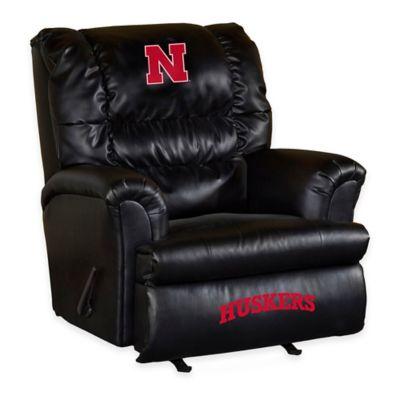 University of Nebraska Leather Big Daddy Recliner