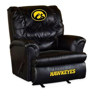 University of Iowa Leather Big Daddy Recliner