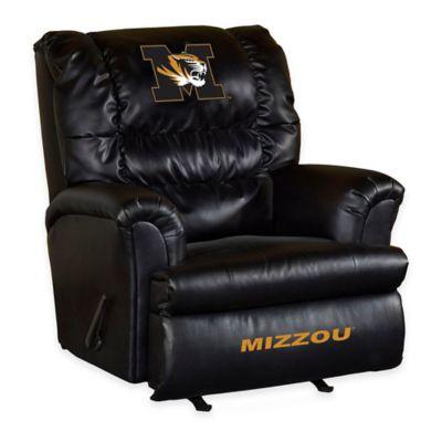 University of Missouri Leather Big Daddy Recliner
