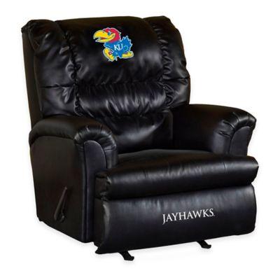 University of Kansas Leather Big Daddy Recliner