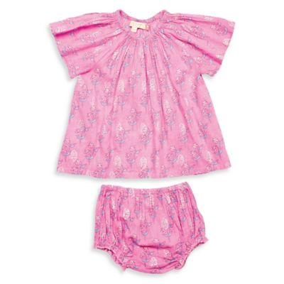 Pink Chicken Size 12-18M 2-Piece Willow Short Sleeve Tunic and Diaper Cover Set in Pink