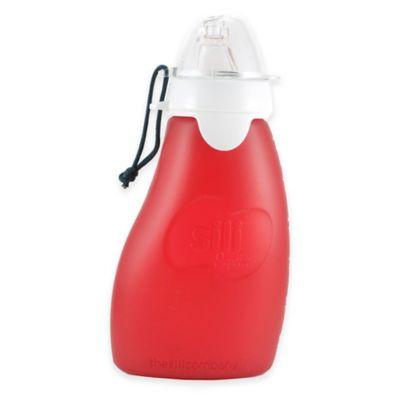 The Original Squeeze® 4 oz. Reusable No-Spill Pouch in Red/Apple