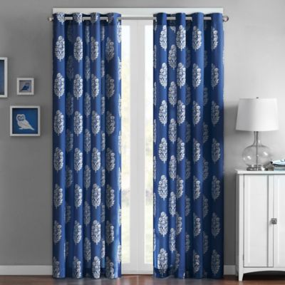 Intelligent Design Adwin 63-Inch Grommet Top Window Curtain Panel in Indigo Blue