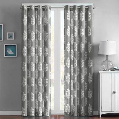 Intelligent Design Adwin 63-Inch Grommet Top Window Curtain Panel in Grey