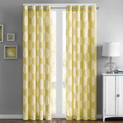 Intelligent Design Adwin 63-Inch Grommet Top Window Curtain Panel in Yellow