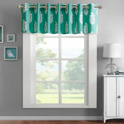 Intelligent Design Adwin Window Valance in Aqua