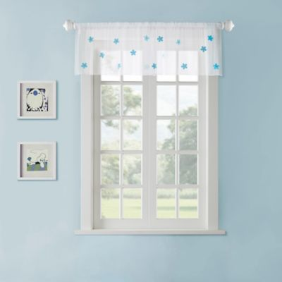 Mi Zone Kids Lilly Sheer Window Valance in White/Pink
