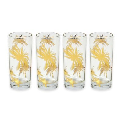 Tinsley Mortimer Palm Tree Highball Glasses (Set of 4)