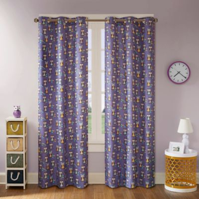 Mi Zone Kids Twyla 63-Inch Grommet Top Window Curtain Panel Pair in Yellow