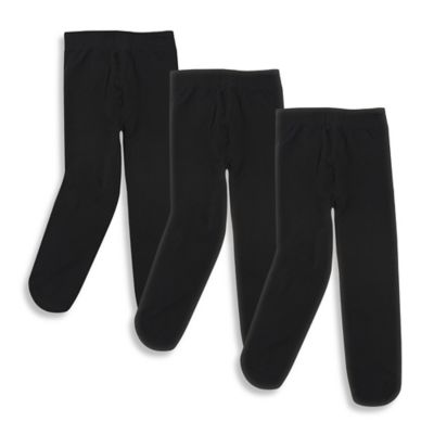 Baby Vision® Luvable Friends® Size 0-9M 3-Pack Tights in Black