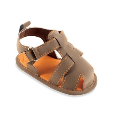 BabyVision® Luvable Friends™ Size 12-18M Fisherman's Sandal in Brown