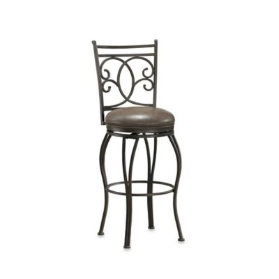 American Heritage Nadia Bar Height Swivel Stool in Grey