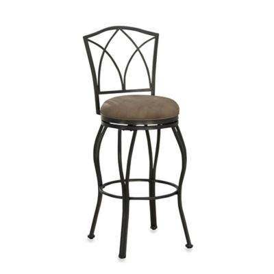 American Heritage Naomi Bar Height Swivel Stool in Grey