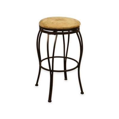 American Heritage Padova Bar Height Swivel Stool in Coco
