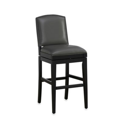 American Heritage Fortuna Counter Height Swivel Stool in Black