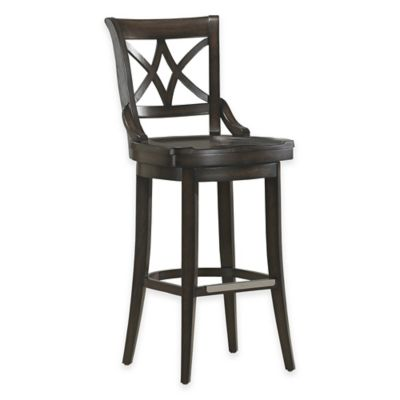 American Heritage Freemont Bar Height Swivel Stool in Black