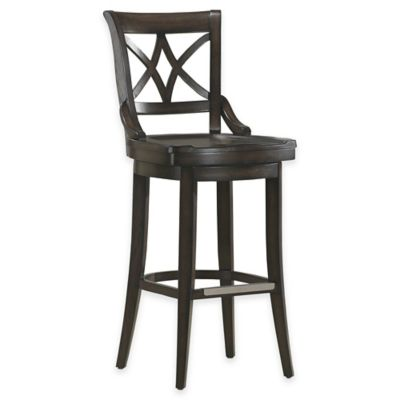 American Heritage Freemont Counter Height Swivel Stool in Black