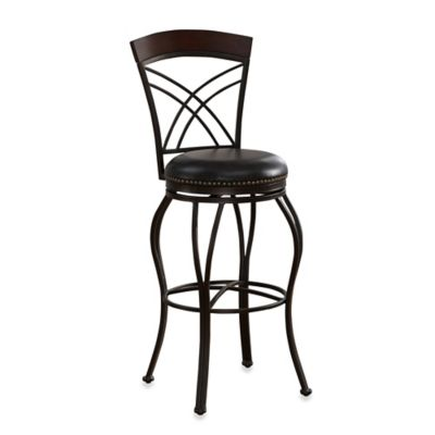 American Heritage Caprice Swivel Counter Stool in Pepper