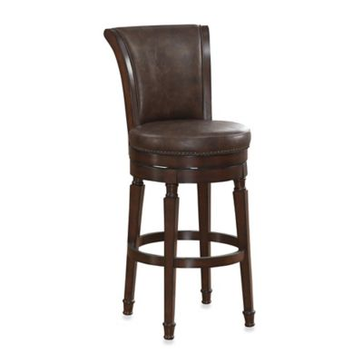 American Heritage Chelsea Swivel Counter Stool in Black
