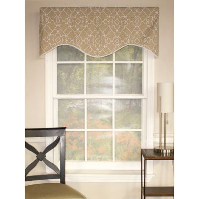 RL Fisher Heaven Cornice Window Valance in Pewter