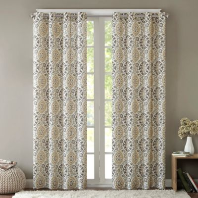 Intelligent Design Seville 84-Inch Grommet Top Window Curtain Panel in Taupe