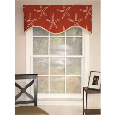 RL Fisher Etoile Cornice Window Valance in Black