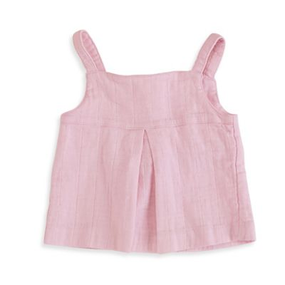 aden + anais® Size 0-3M Smocked Sleeveless Muslin Top in Soft Orchid
