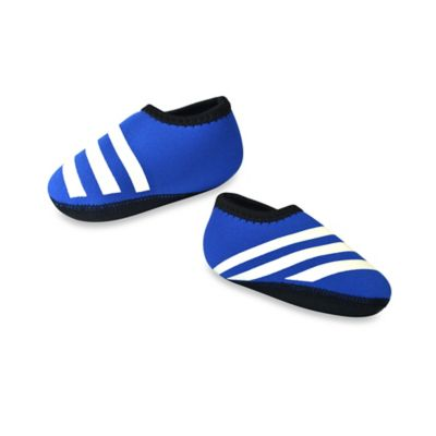 nufoot Everyday Size 0-6M Striped Slipper in Blue/White