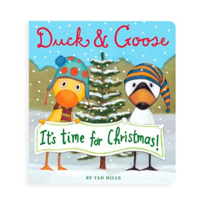 """""""Duck & Goose, It's Time for Christmas!"""" Board Book by Tad Hills"""