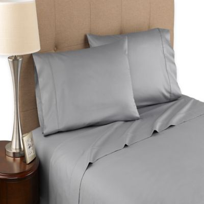 Modern Living 300-Thread-Count Organic Cotton Full Sheet Set in Grey