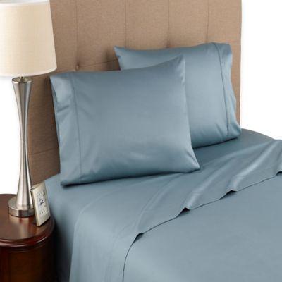 Modern Living 300-Thread-Count Organic Cotton Full Sheet Set in Blue Mist