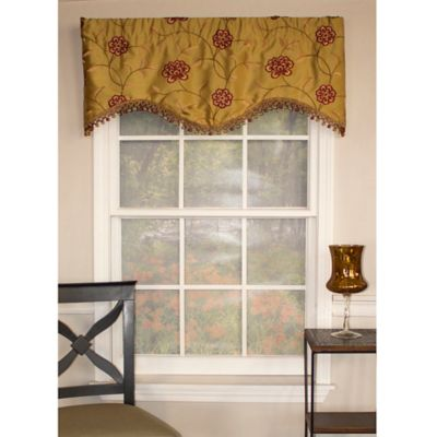 RL Fisher Stella Cornice Window Valance in Gold