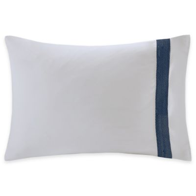 Natori Origami Mum 400-Thread Count Embroidered Cuff Pillowcase in White