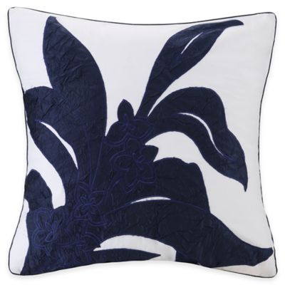 Natori Origami Mum European Pillow Sham in Indigo