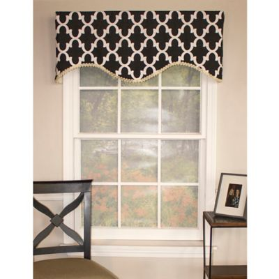 RL Fisher Flynn Cornice Window Valance in Red