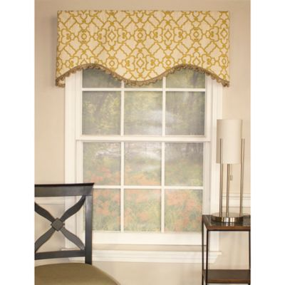 RL Fisher Garden Gate Shaped Valance in Gold