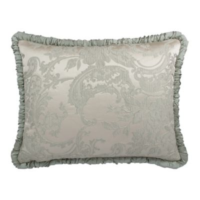 Austin Horn Collection Cascata Shirred King Pillow Sham in Seamist