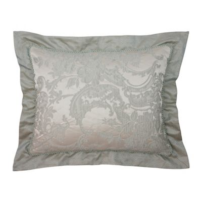 Austin Horn Collection Cascata Satin Flange Standard Pillow Sham in Seamist