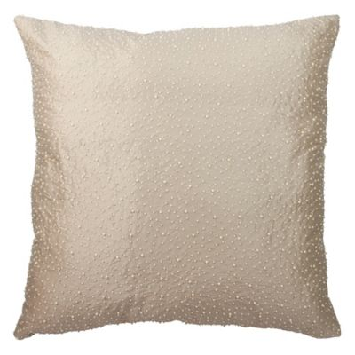 Austin Horn Collection Cascata Beaded European Pillow Sham in Seamist