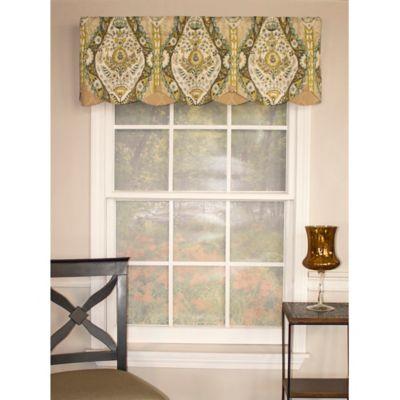 RL Fisher Brasserie Petticoat Window Valance in Waterlilly