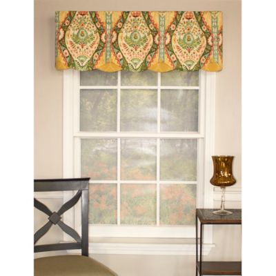 RL Fisher Brasserie Petticoat Window Valance in Waterlilly