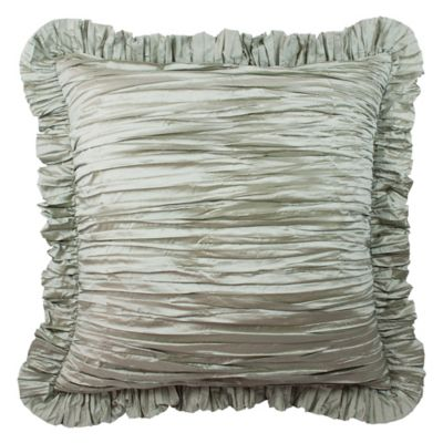 Austin Horn Collection Cascata Ruffle European Pillow Sham in Seamist