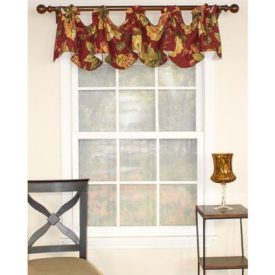 RL Fisher Juliet Swag Valance in Merlot
