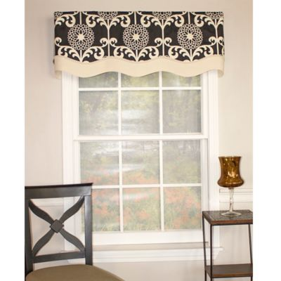 Black Green Window Valance