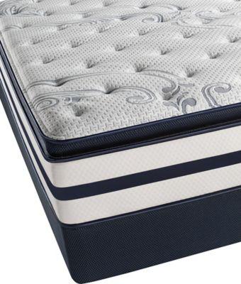 Beautyrest® Recharge® Windchase Plush Pillow Top Low Profile Split Queen Mattress Set