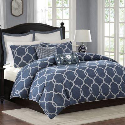 Harbor House™ Freya Reversible King Comforter Set in Blue