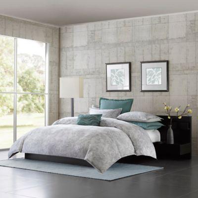 Metropolitan Home Marble Queen Comforter Set in Grey