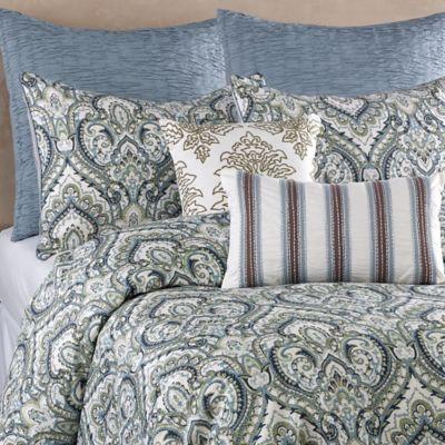 Blue Stone Court Belmont Full/Queen Duvet Cover Set in Blue