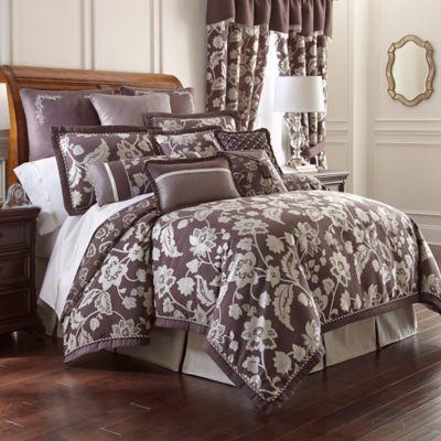 Waterford® Linens Adelisa Reversible Queen Duvet Cover in Plum
